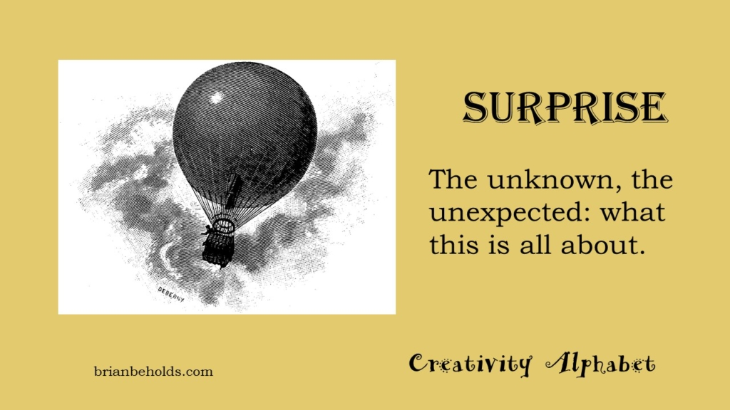 Surprise, Creativity Alphabet