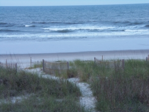 Past Tides poem, the ocean at Holden Beach, NC